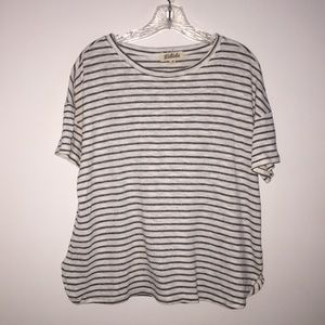 Listicle Black and white Stripe Top